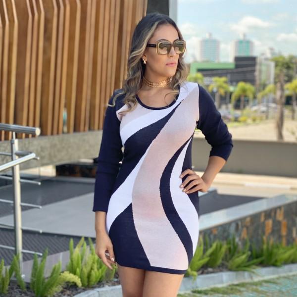 Vestido Feminino Geométrico